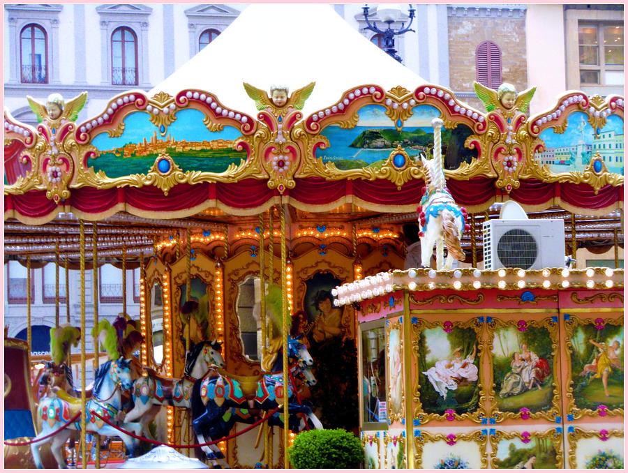 Merry Go Round Photograph - Merry Go Round by Mindy Newman