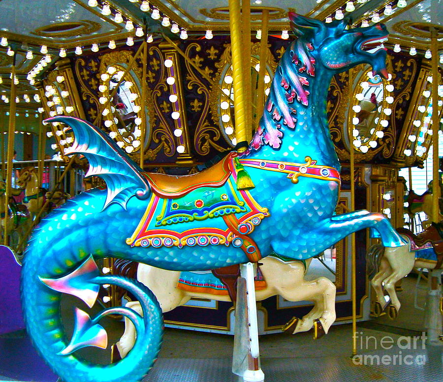 Merry Go Round Sea Horse Photograph