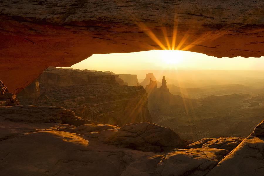 Mesa Arch Sunburst Photograph