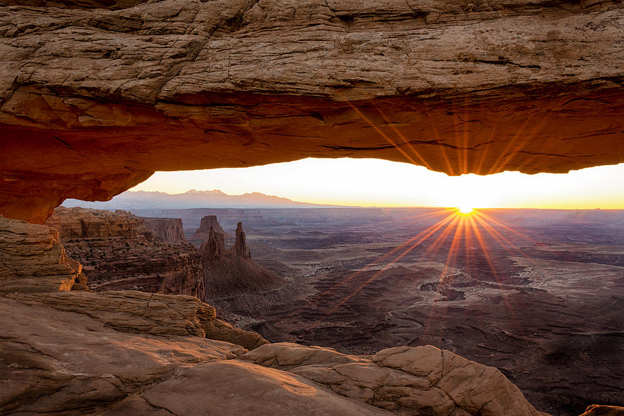Mesa Arch Sunrise - Canyonlands National Park - Moab Utah Photograph