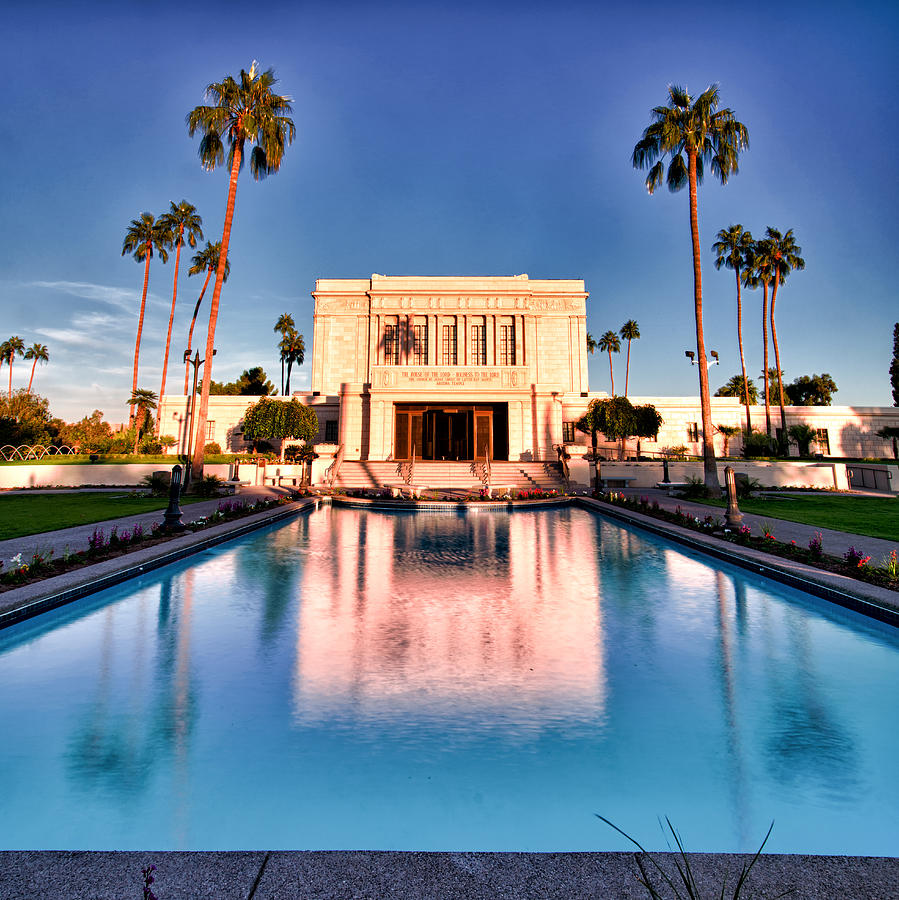 Mesa Lds Temple Photograph  - Mesa Lds Temple Fine Art Print