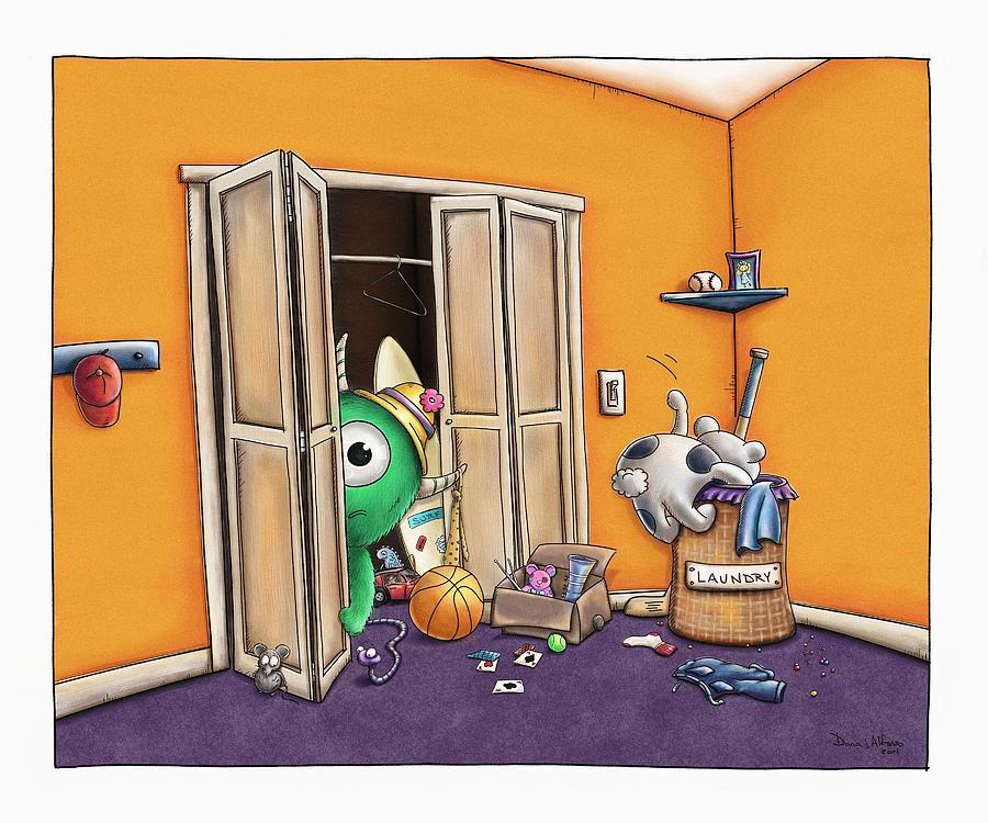 Messy Monsters Digital Art