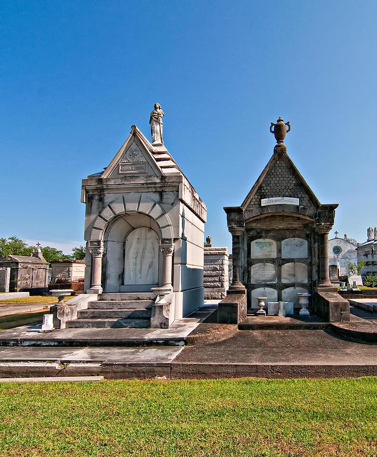 Metairie Cemetery Photograph - Metairie Cemetery 4 by Steve Harrington