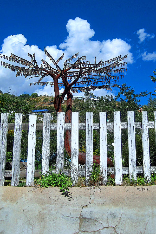 Metal Tree Bisbee Photograph  - Metal Tree Bisbee Fine Art Print