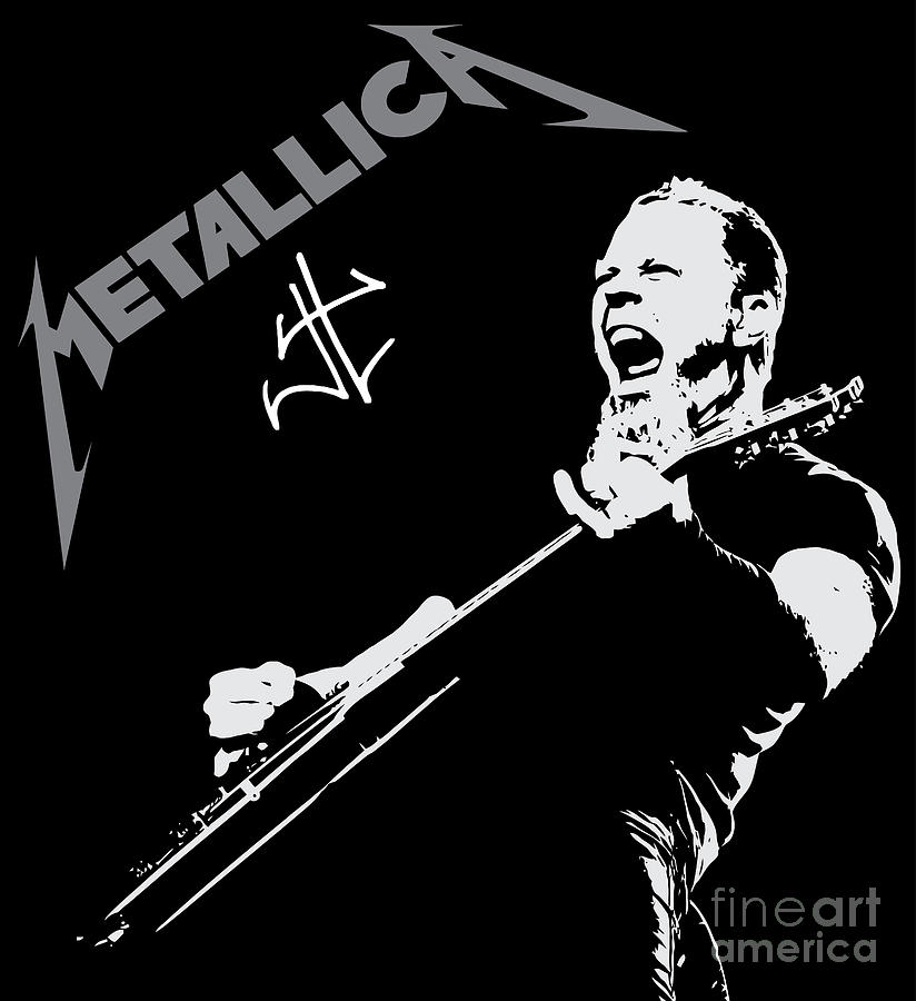Metallica Digital Art  - Metallica Fine Art Print