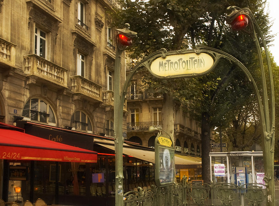 Metro st michel photograph by mick burkey - Saint michel paris metro ...