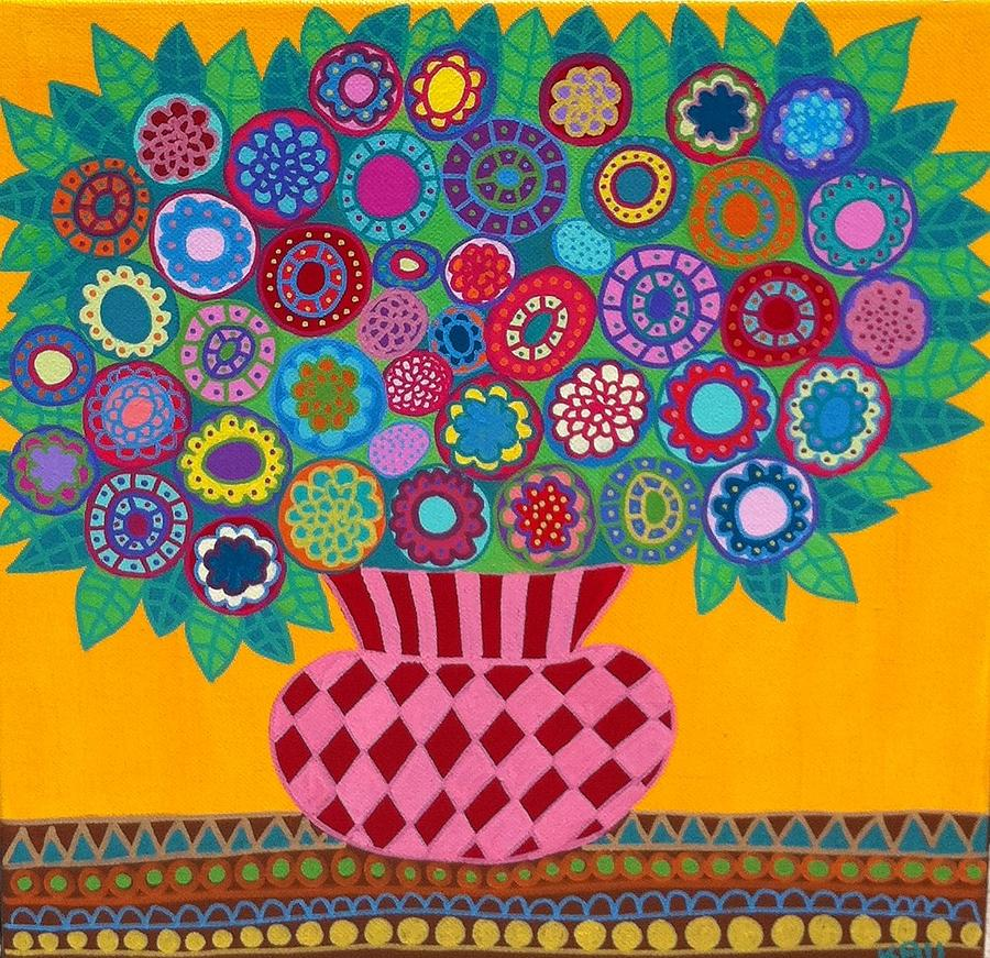 Mexican Flowers 2 Painting by Kerri Ambrosino GALLERY
