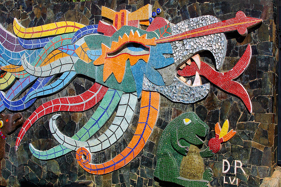 Mexican mosaic art is a photograph by linda phelps which was uploaded