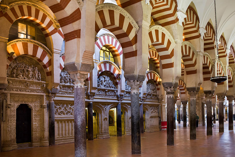 Mezquita Prayer Hall In Cordoba Photograph