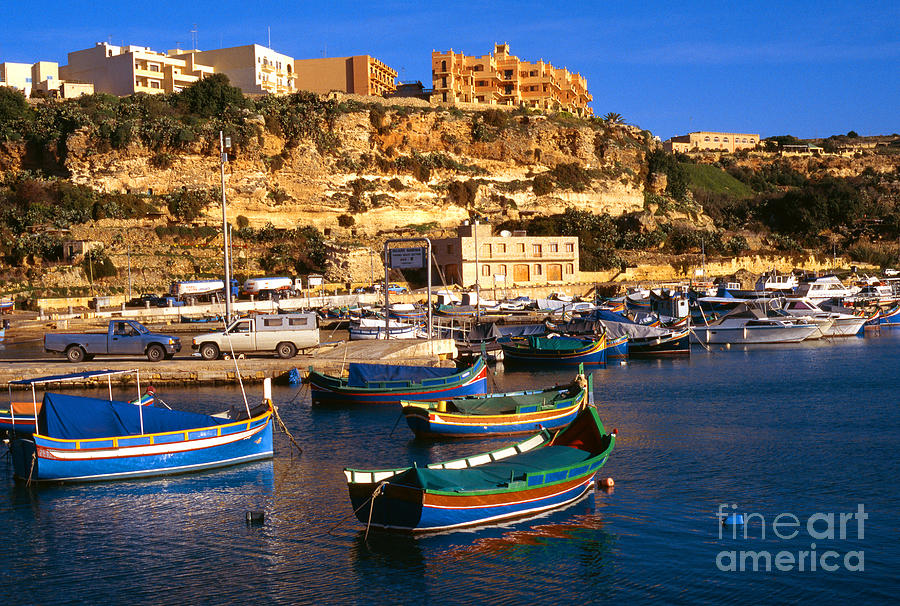 Mgarr Harbor Gozo Photograph