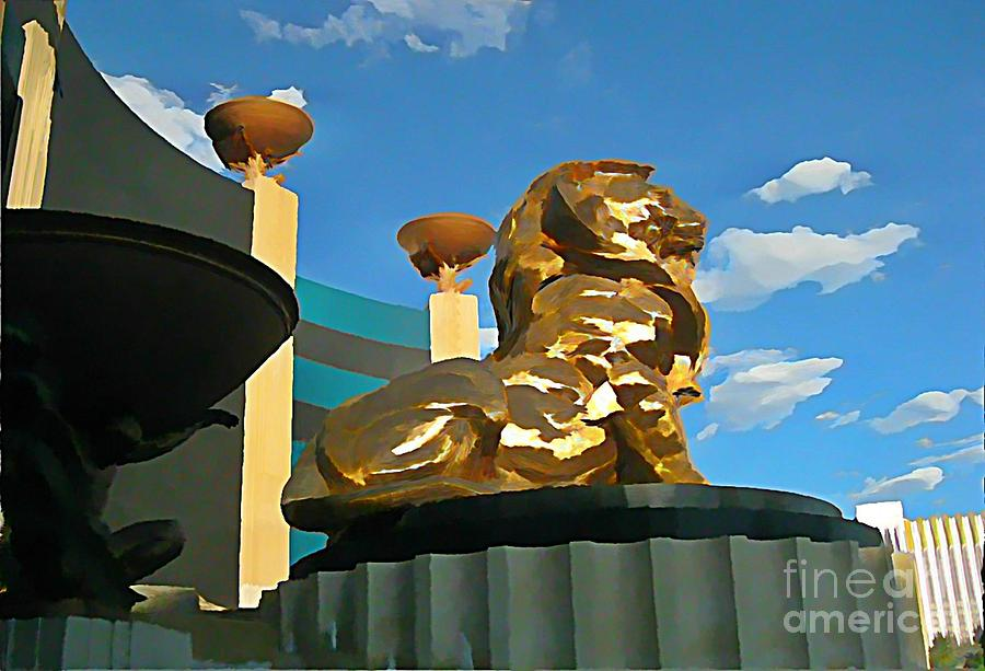 Mgm Lion In Las Vegas Photograph  - Mgm Lion In Las Vegas Fine Art Print