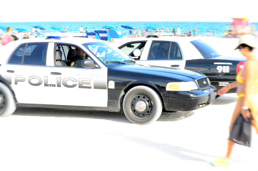 Miami Beach Patrol Photograph  - Miami Beach Patrol Fine Art Print