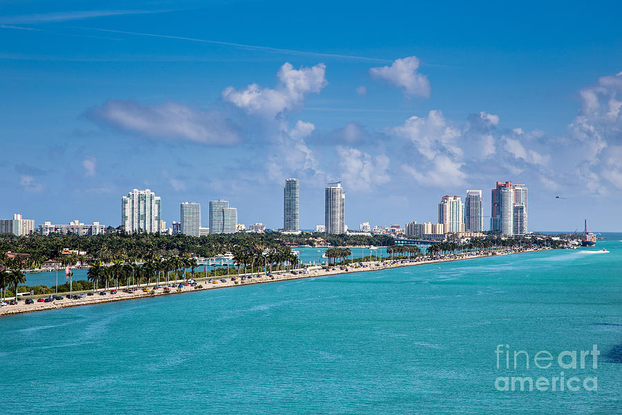Miami Beach Skyline Photograph - Miami Beach Skyline by Rene Triay Photography