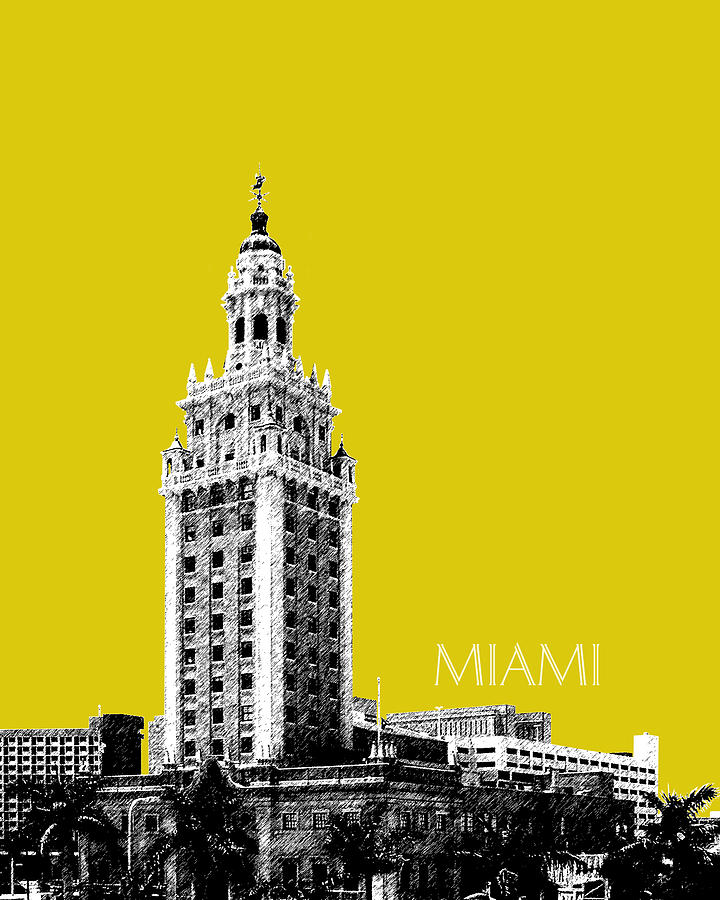 Miami Freedom Tower Digital Art  - Miami Freedom Tower Fine Art Print