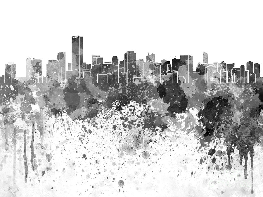 Abstract New York Paintings Black White  S