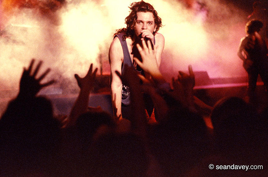 Michael Hutchence And Inxs 1985 Photograph  - Michael Hutchence And Inxs 1985 Fine Art Print