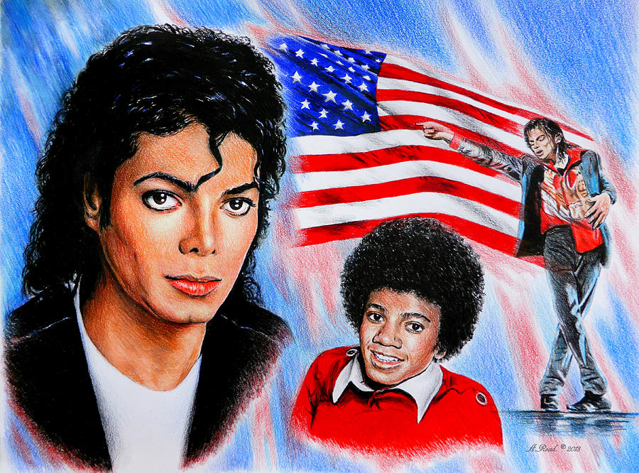 Michael Jackson American Legend Drawing  - Michael Jackson American Legend Fine Art Print