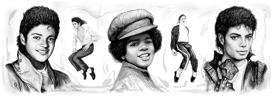 Michael Jackson Art Long Drawing Sketch Poster Painting