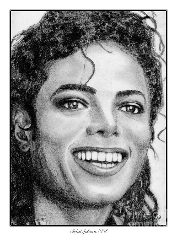 Michael Jackson In 1988 Drawing