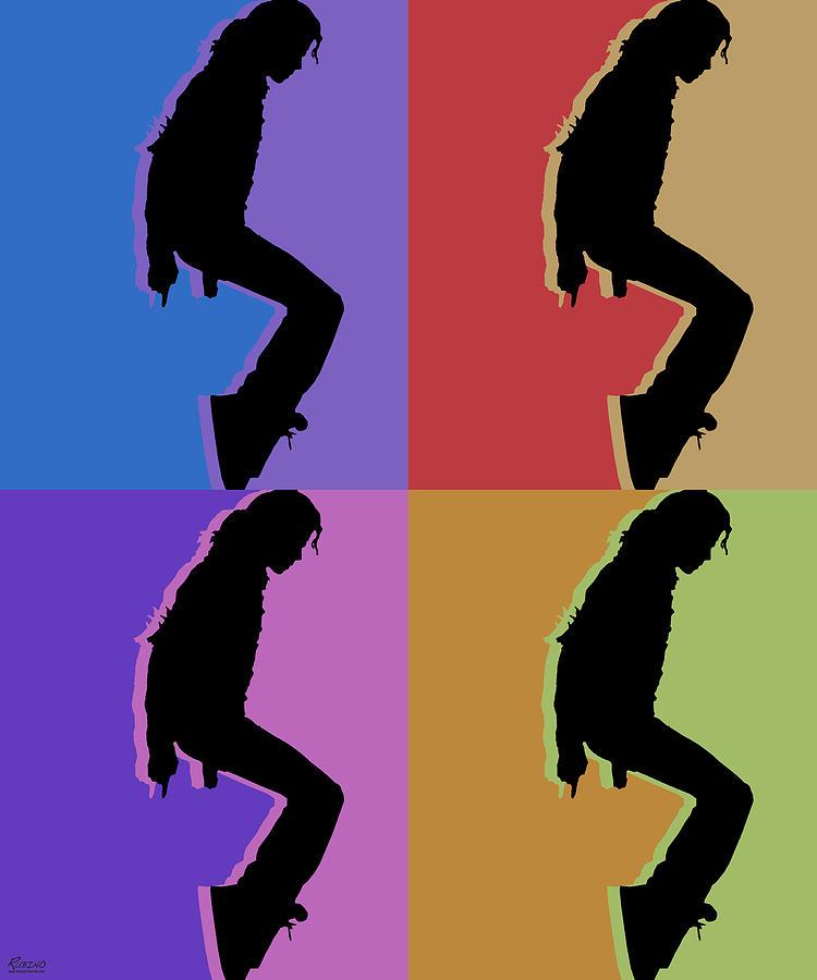 Michael Jackson King Of Pop Repeat Painting