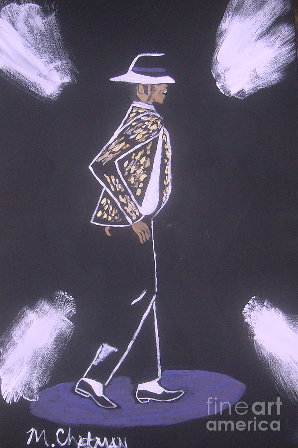 Michael Jackson Moonwalking Painting