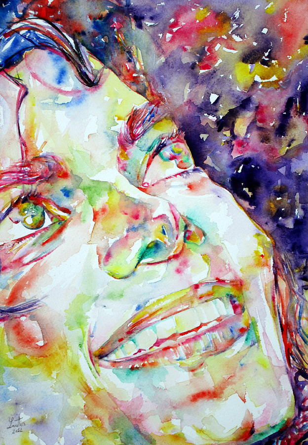 Michael Jackson Smiling - Watercolor Portrait Painting