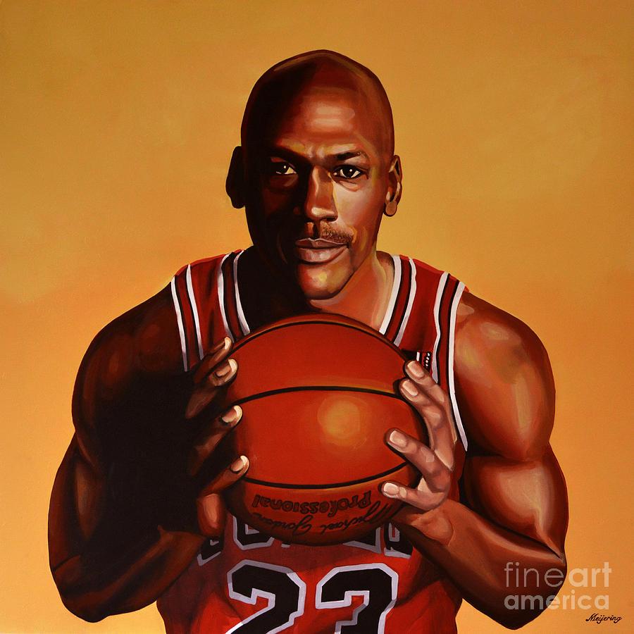 Michael Jordan 2 Painting By Paul Meijering