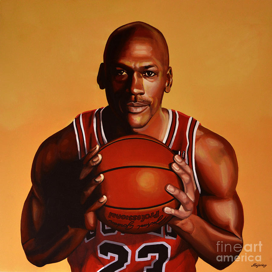 Michael Jordan Painting - Michael Jordan 2 by Paul Meijering