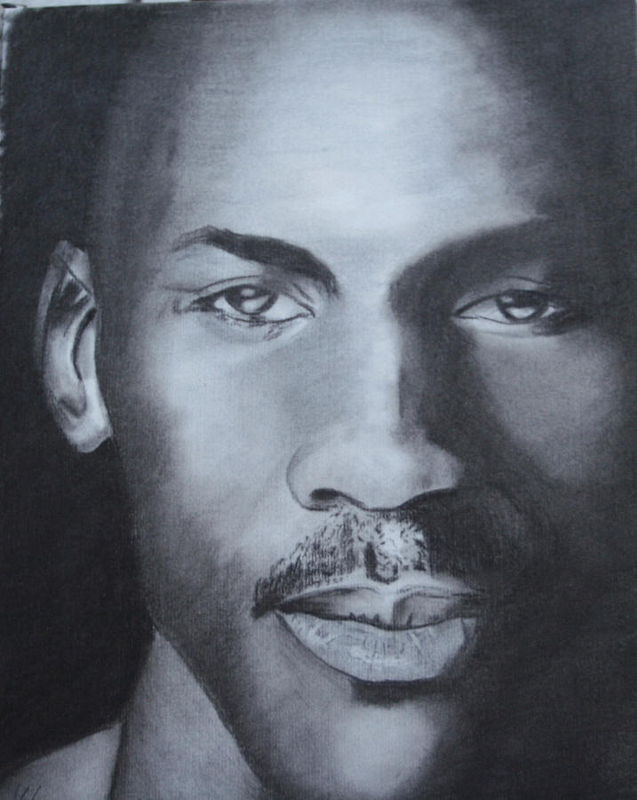 Michael Jordan Drawing  - Michael Jordan Fine Art Print