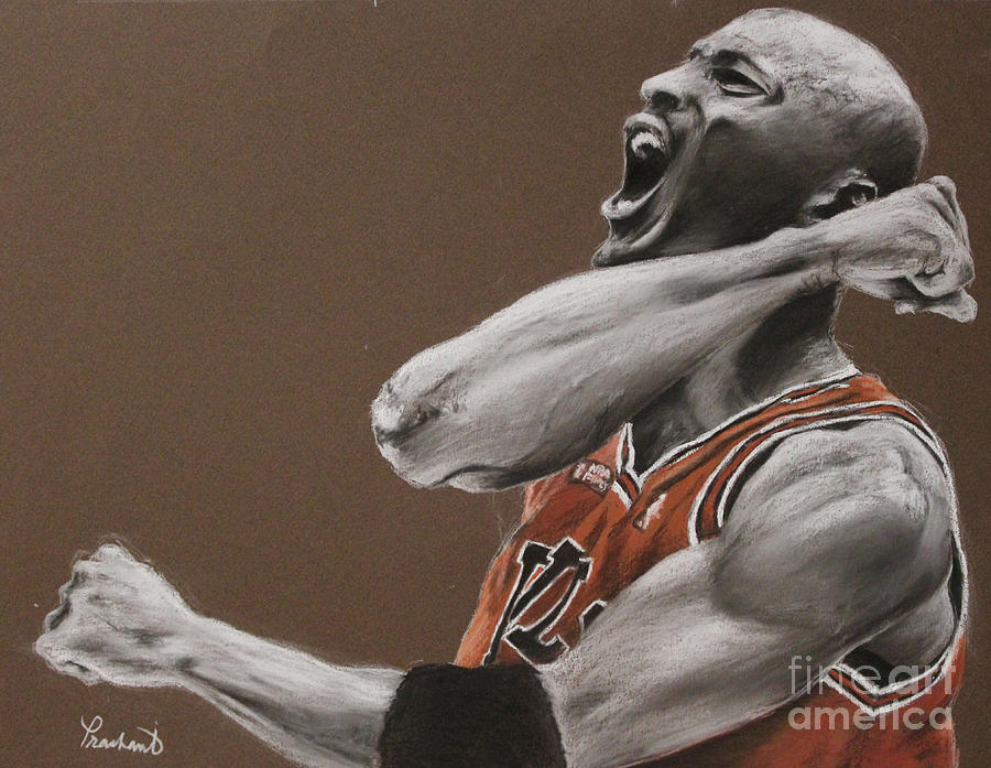 Michael Jordan - Chicago Bulls Painting  - Michael Jordan - Chicago Bulls Fine Art Print