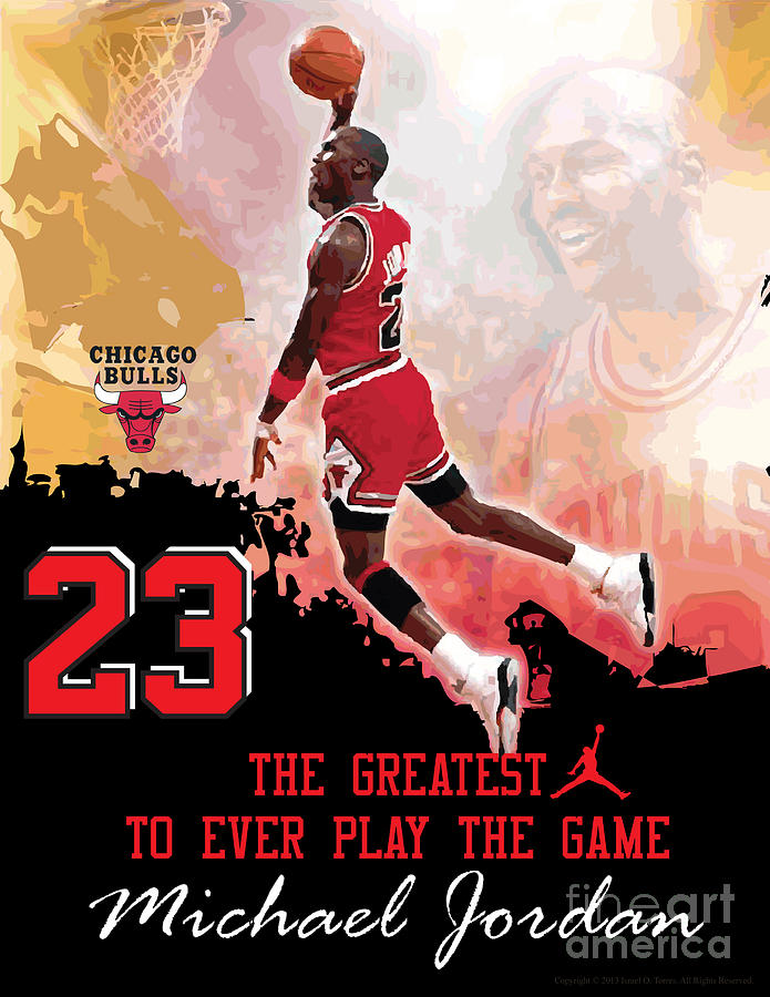 Michael Jordan Greatest Ever Digital Art  - Michael Jordan Greatest Ever Fine Art Print