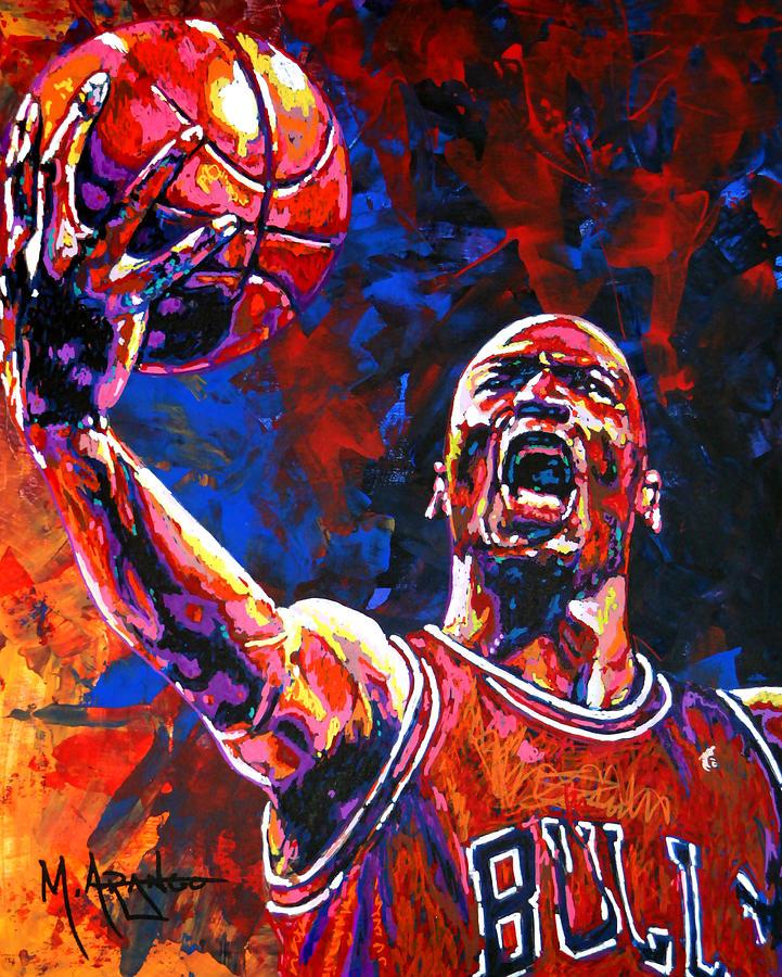Michael Jordan Layup Painting