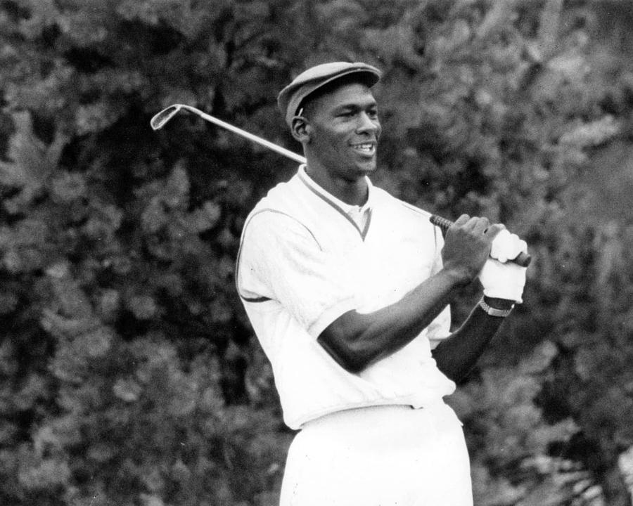 Classic Photograph - Michael Jordan Playing Golf by Retro Images Archive
