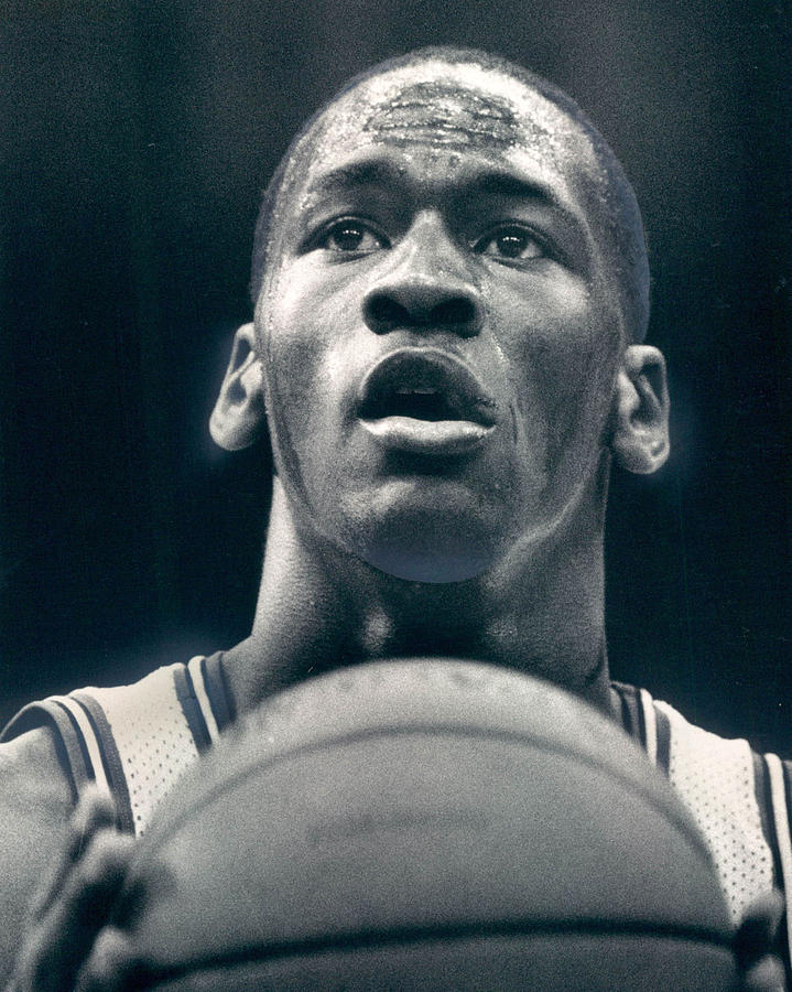 Classic Photograph - Michael Jordan Shots Free Throw by Retro Images Archive