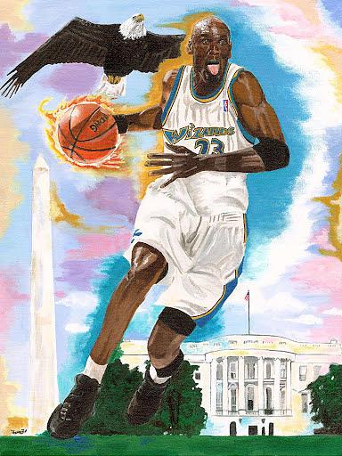 Michael Jordan Wizards Painting