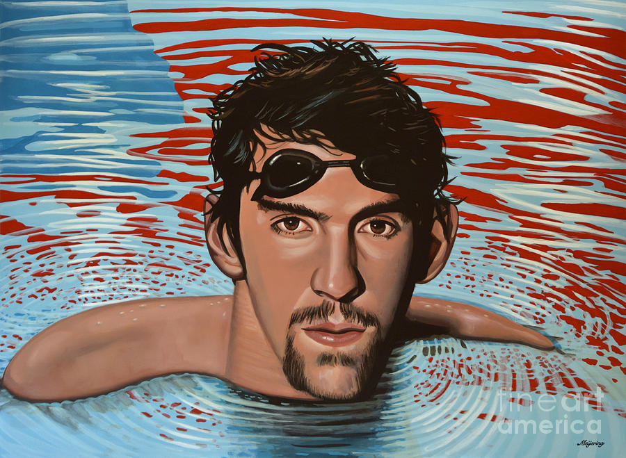 Michael Phelps Painting - Michael Phelps by Paul Meijering