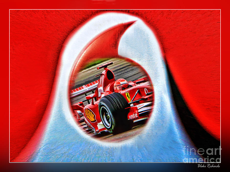 Michael Schumacher Though The Logo Photograph  - Michael Schumacher Though The Logo Fine Art Print