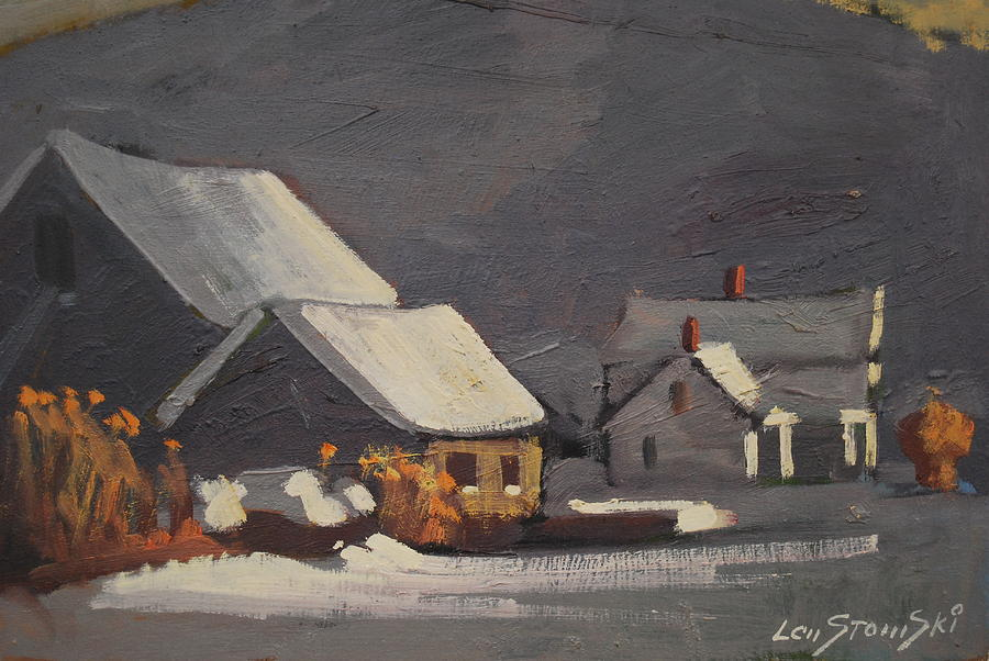 Berkshire Hills Paintings Painting - Michalski Farm by Len Stomski