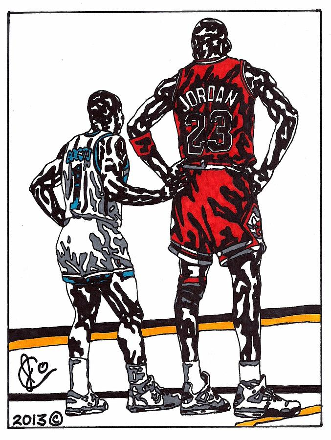 Micheal Jordan 1 Drawing