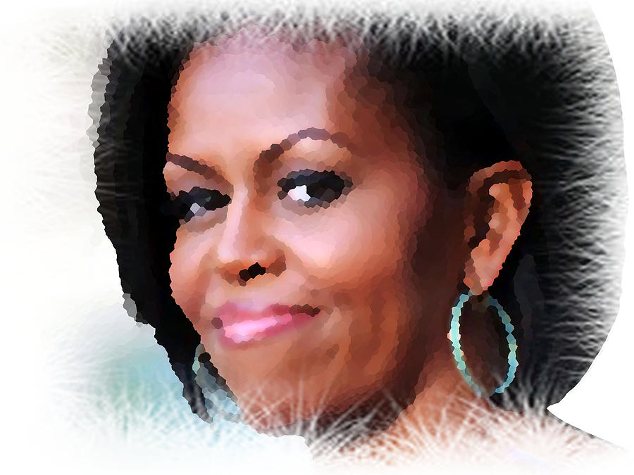 Michelle I First Lady Of The Us Digital Art
