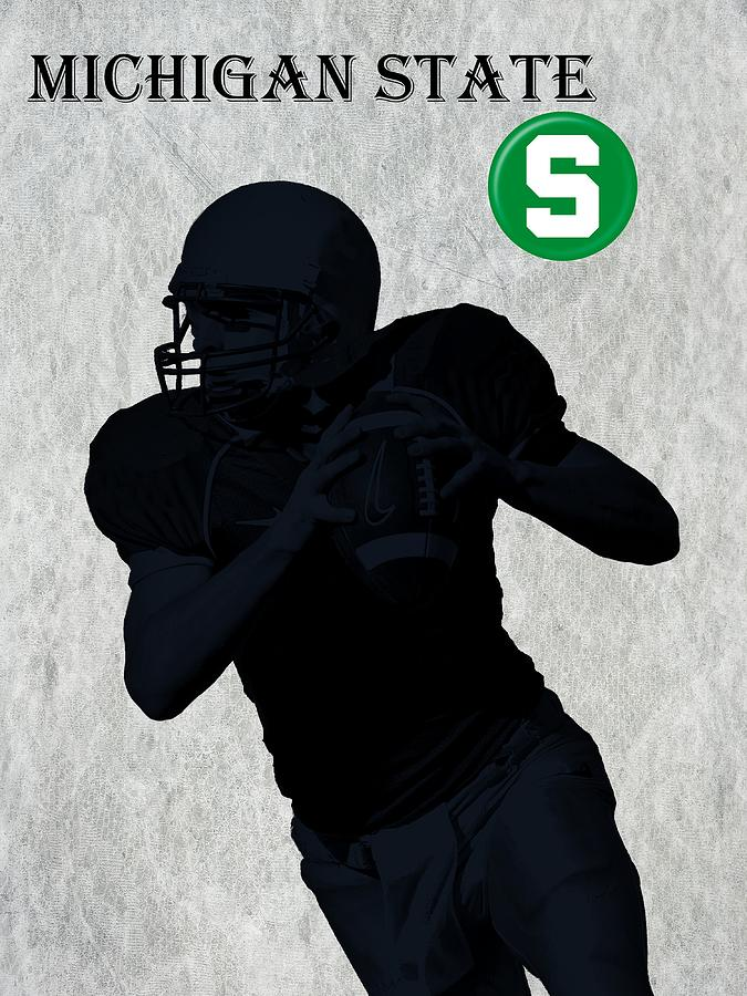 Michigan State Football Digital Art  - Michigan State Football Fine Art Print