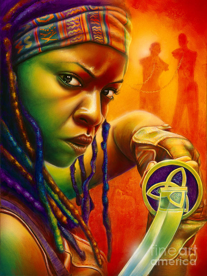 Michonne Painting By Scott Spillman