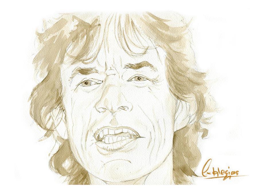 Mick Jagger Painting