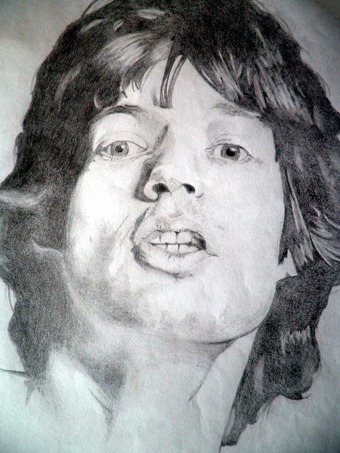 Mick Jagger - Large Drawing
