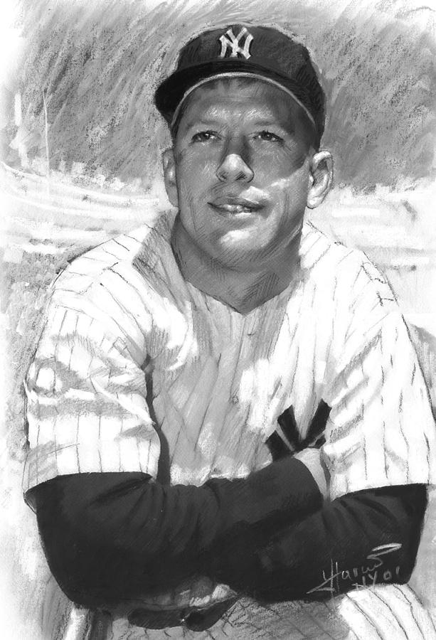 Mickey Mantle Drawing