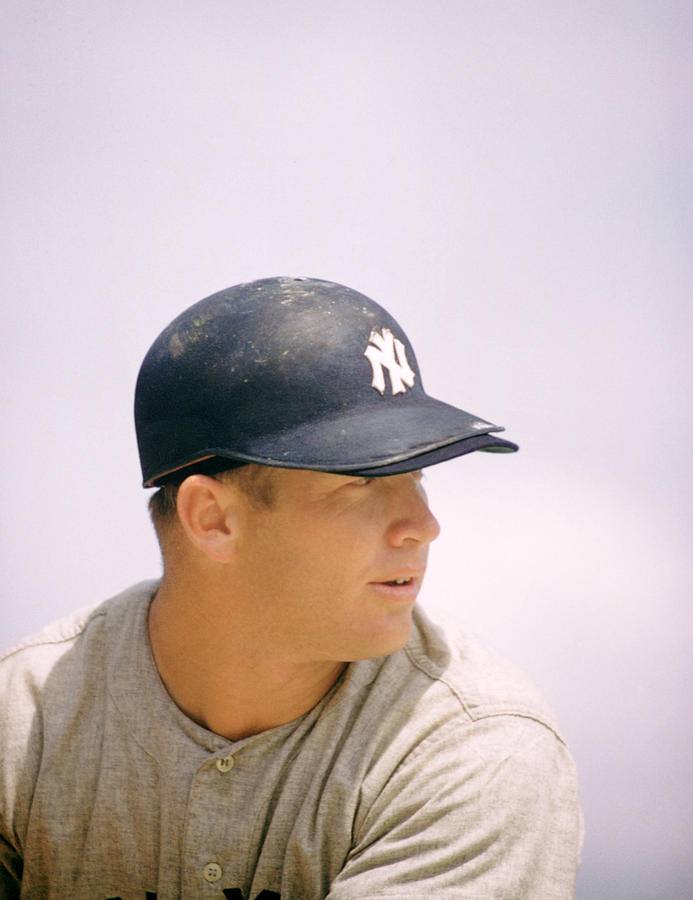 Mickey Mantle Ready To Swing Photograph