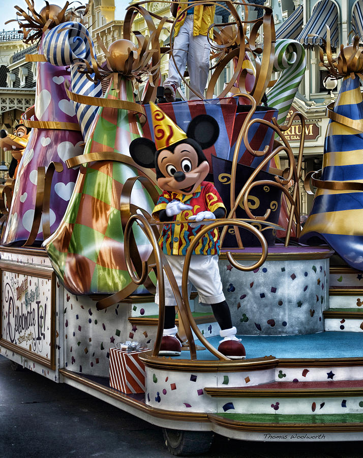 Mickey Mouse On His Celebrate It Float Photograph
