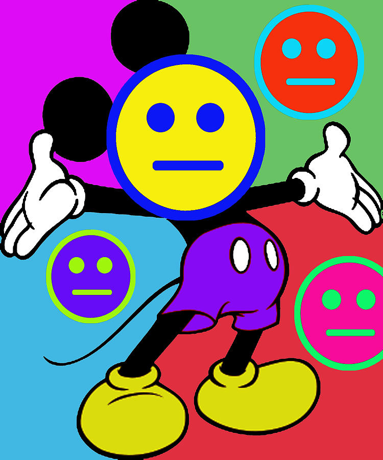 Mickey Smiles Painting  - Mickey Smiles Fine Art Print