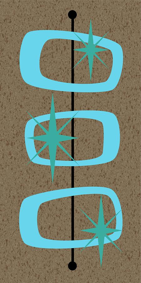 Mid Century Modern Shapes 1 Digital Art By Donna Mibus