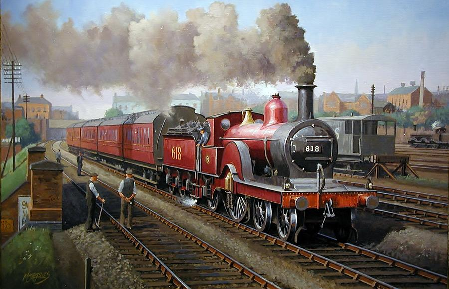 Midland Railway Single 1896. Painting  - Midland Railway Single 1896. Fine Art Print